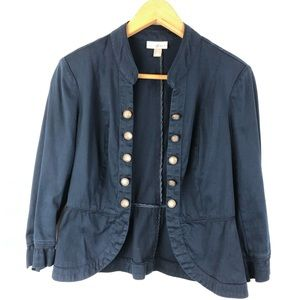 roz&Ali military style navy blue jacket  Small